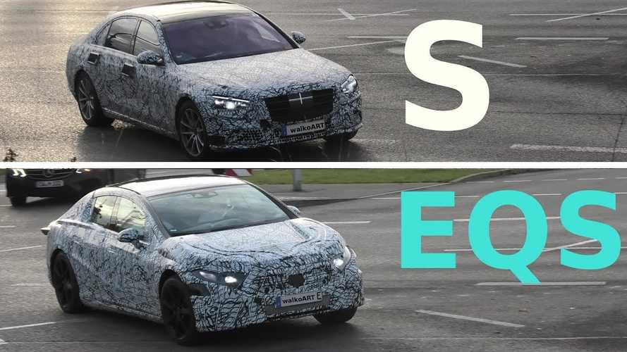 New Mercedes S-Class And EQS Caught Showing Major Differences In Shape