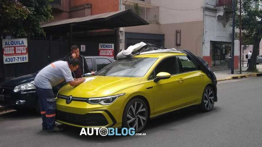 Flagra: o que já faz um novo VW Golf 8 na Argentina?