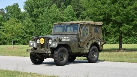Wade in with a 1953 willys m38 a1