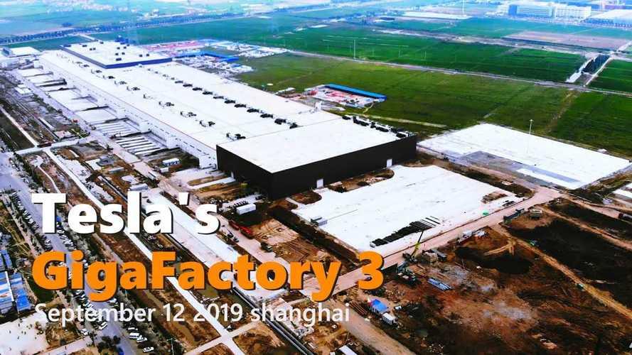 Tesla Gigafactory 3 Construction Progress September 12, 2019: Video