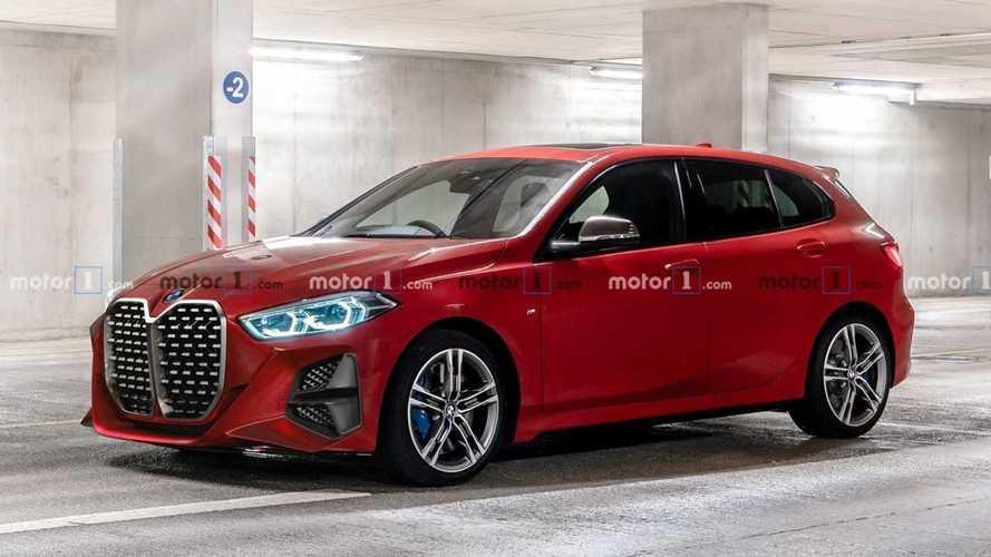 Como se vería la gran parrilla de BMW en distintos modelos