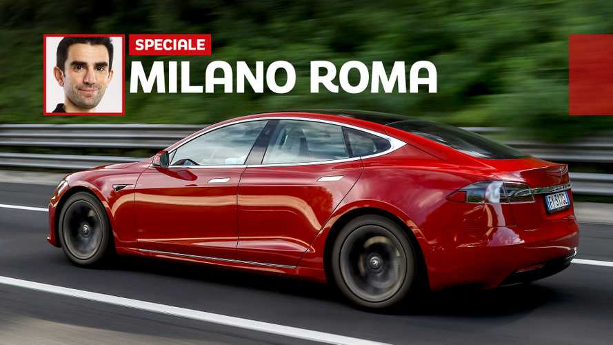 Milano - Roma in auto elettrica: quanto ci vuole con una Tesla Model S
