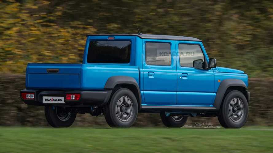 Suzuki Jimny pick-up, render