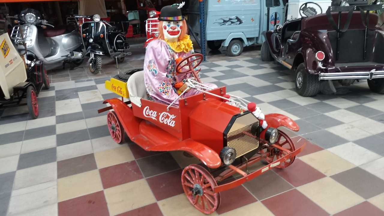 Terrify Everyone In Clown-Piloted Vintage Tin Lizzie Go-Kart