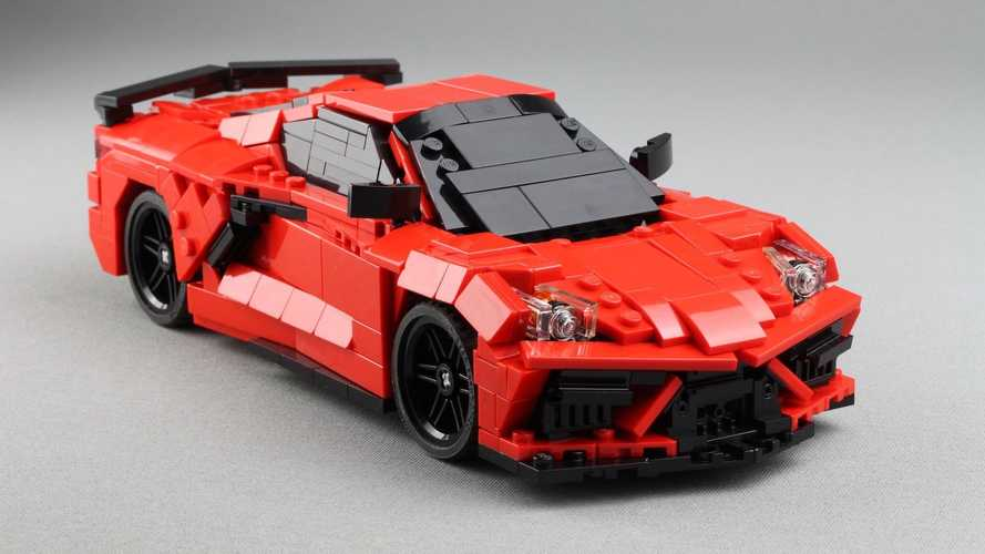 2020 Corvette C8 Lego build by Lasse Deleuran