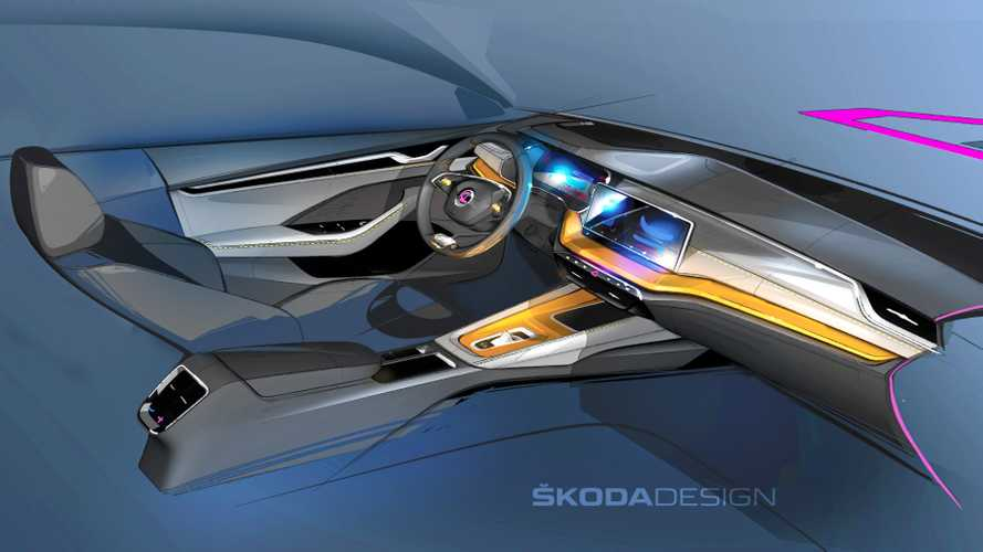 2020 Skoda Octavia Interior Design Sketches Show Major Changes