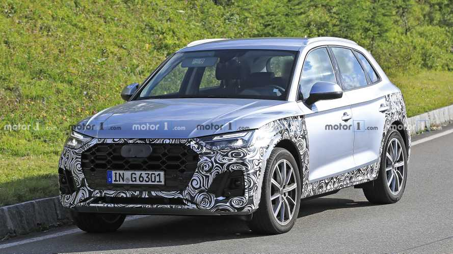 2021 Audi Q5 facelift spied looking stylish in silver