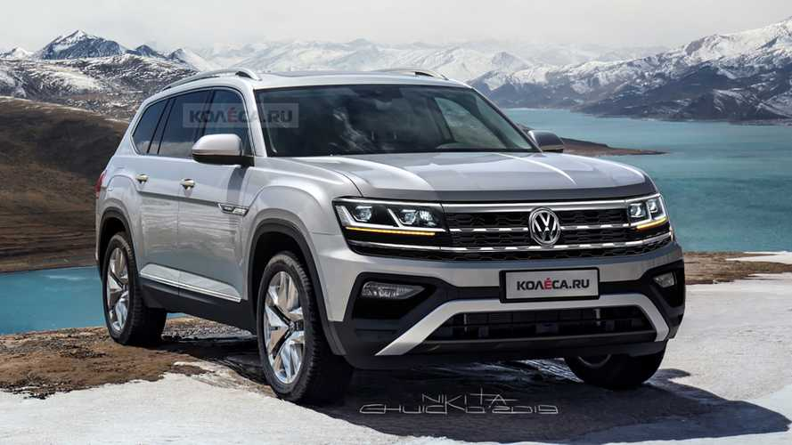 2021 VW Atlas Imagined With Subtle Facelift