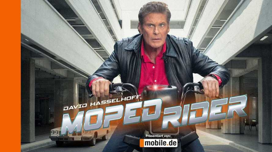 Michael Knight Is Back, With A Moped Companion