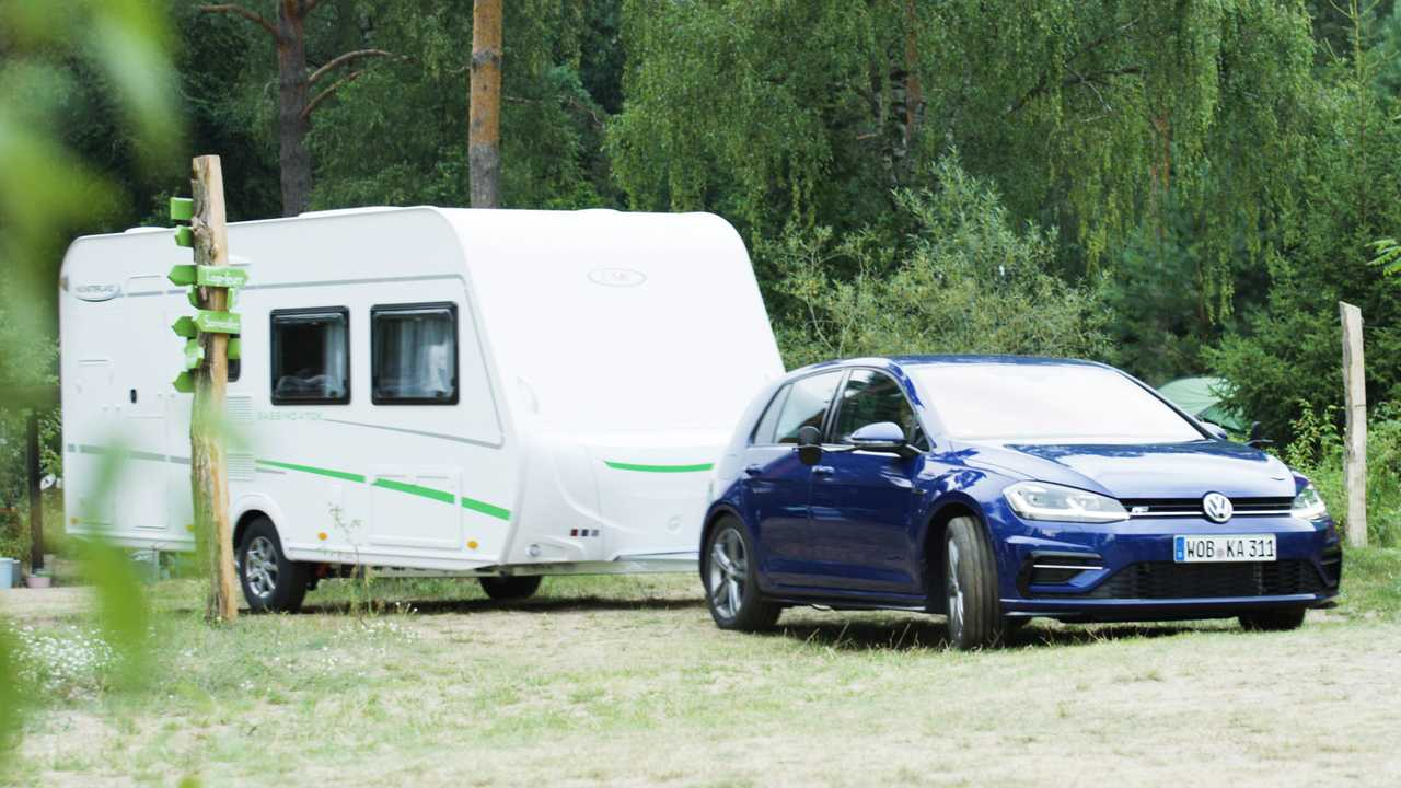 Caravanning with the Volkswagen Golf