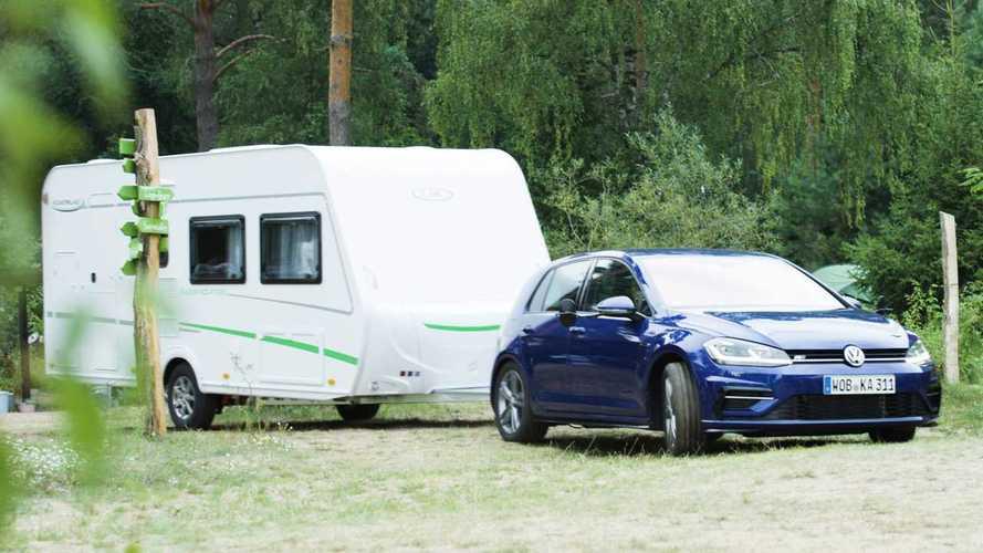 Will a Volkswagen Golf tow a caravan?