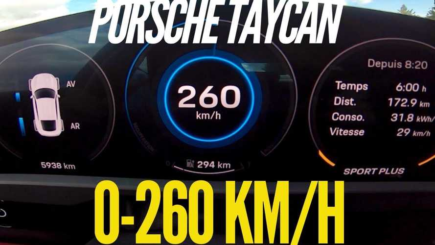Porsche Taycan Turbo S Impresses In 0 To 162 MPH Acceleration Test