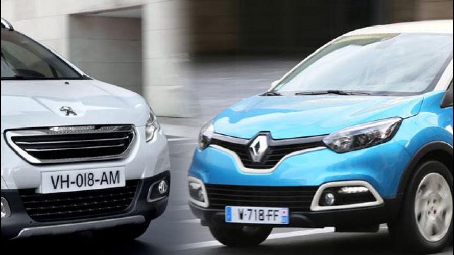 Renault Captur vs Peugeot 2008, scontro tra i SUV francesi da città