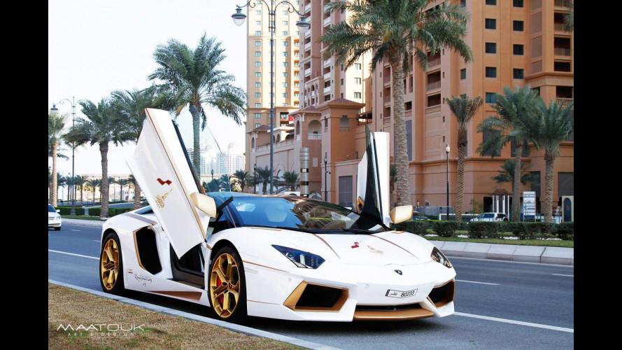 Lamborghini Aventador, un vestito d'oro eccezionale