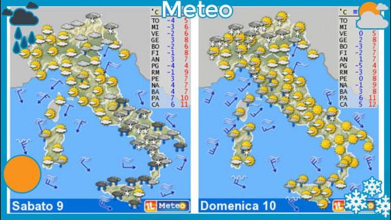 [Copertina] - Il meteo del fine settimana 9 e 10 febbraio: è freddo artico