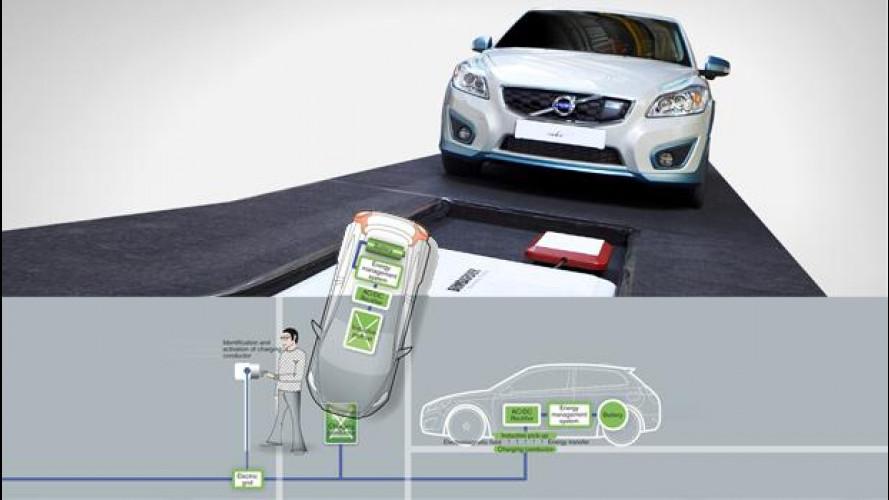 Volvo: l'auto elettrica si ricarica senza fili