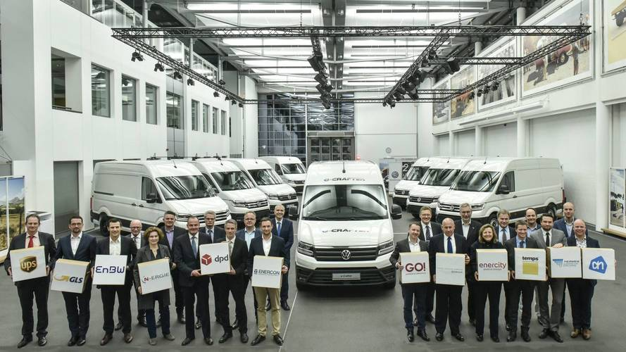 Volkswagen Delivers First e-Crafter Electric Vans
