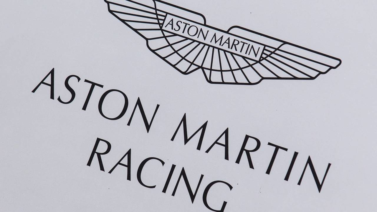 Aston Martin Racing paddock area and logo