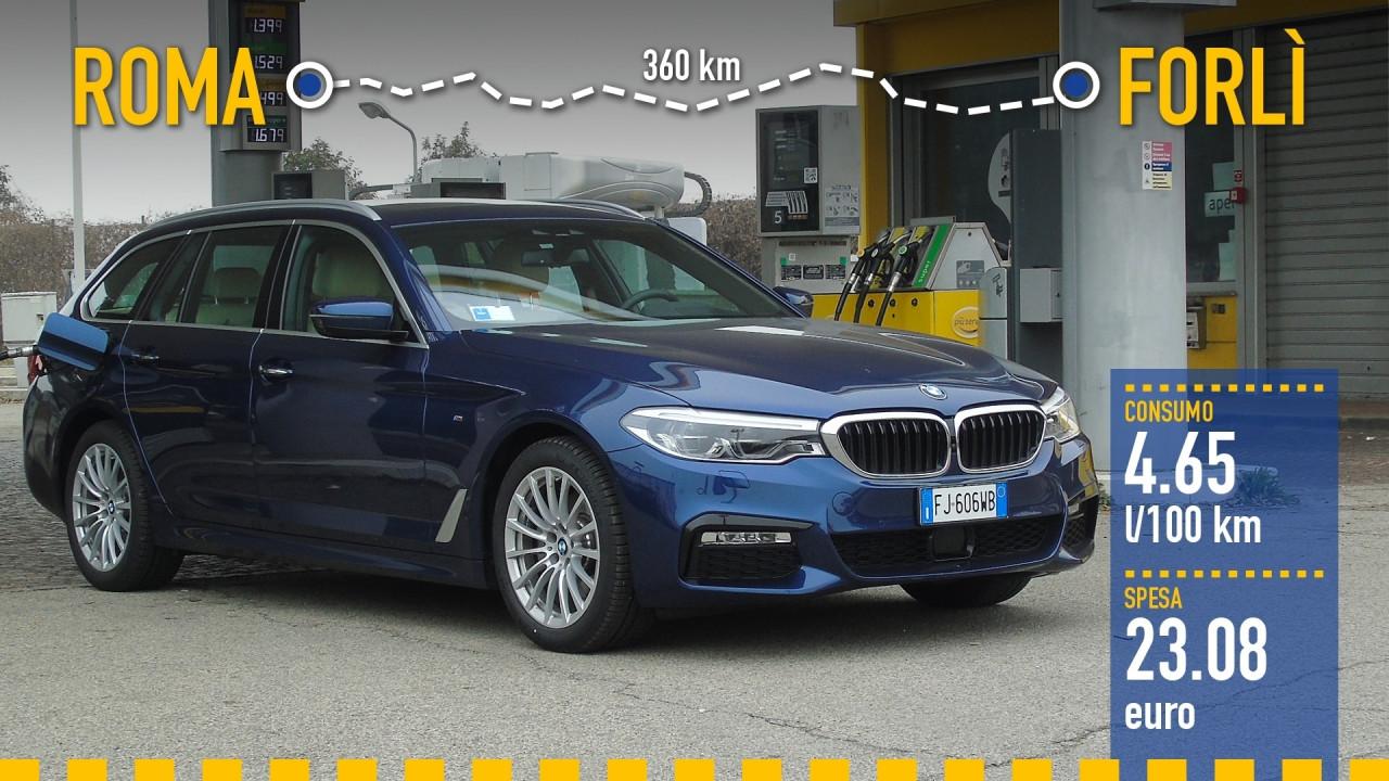 [Copertina] - BMW 520d Touring, la prova dei consumi reali
