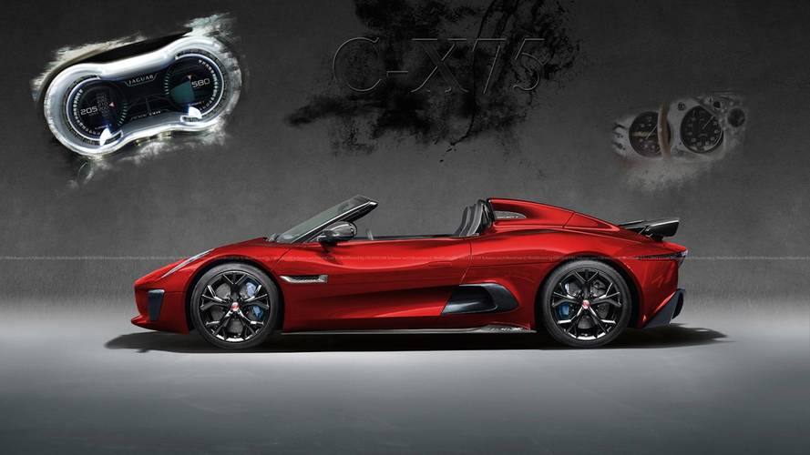 Jaguar C-X75 Supercar Looks Even More Stunning As A Convertible