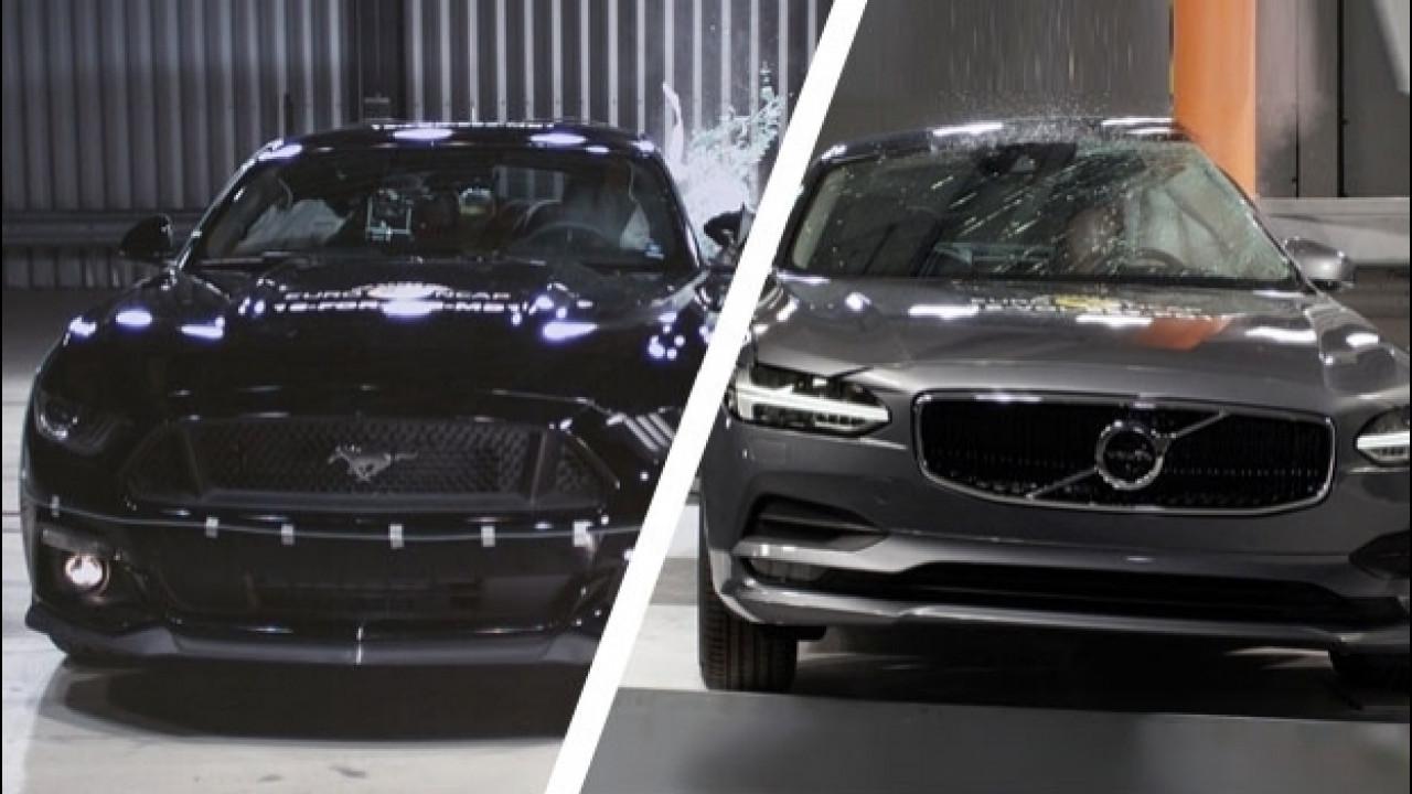 [Copertina] - Euro NCAP, la Ford Mustang ottiene solo 2 stelle. Bene le Volvo S90/V90