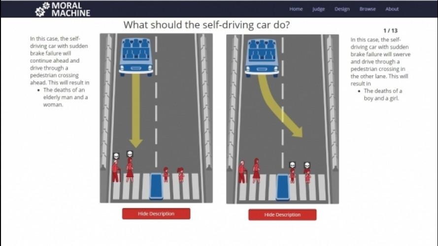 """Guida autonoma, quale """"morale"""" insegnare ai computer"""