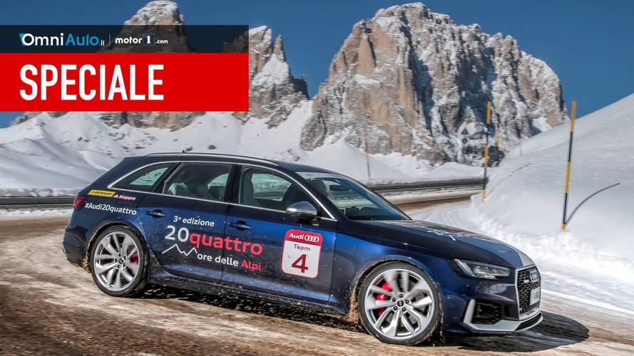 20quattro ore delle Alpi, più di 10.000 curve con l'Audi RS4