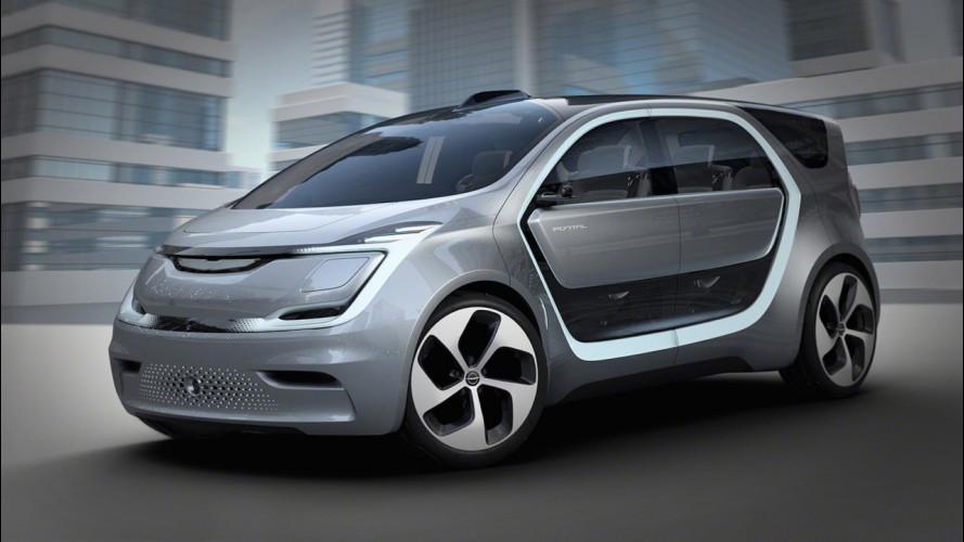 Chrysler Portal Concept, l'elettrica a guida autonoma diventa social