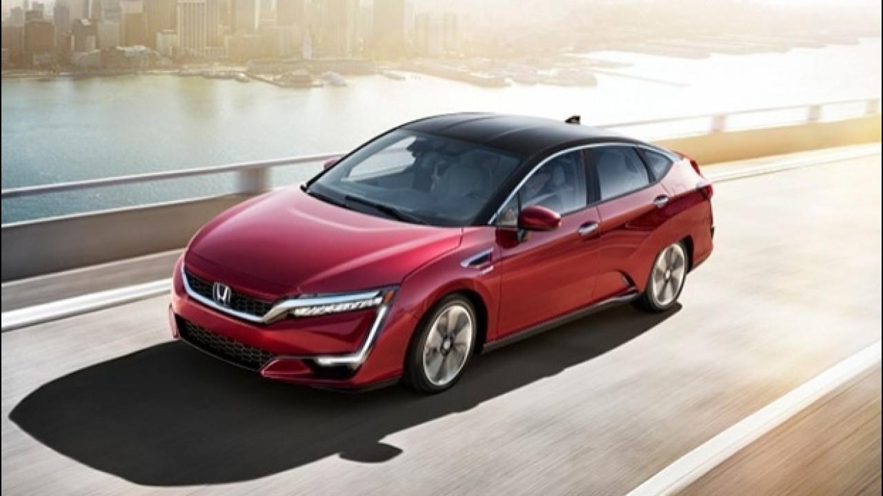 [Copertina] - Honda Clarity Fuel Cell, quasi 600 km con un pieno di idrogeno