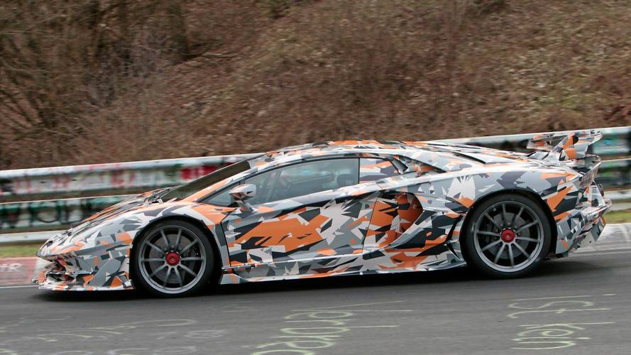 Lamborghini Aventador SV Jota 2019 fotos espía