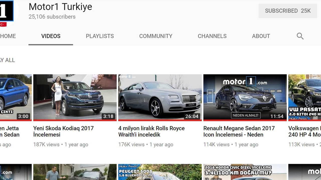 Motor1 Youtube Ekran Görüntüsü