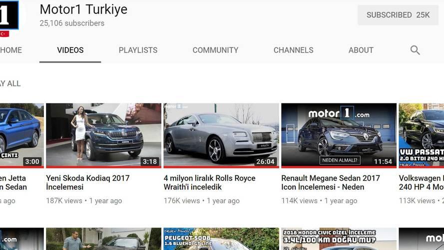 Motor1 Türkiye'nin YouTube kanalında en çok izlenen 5 video