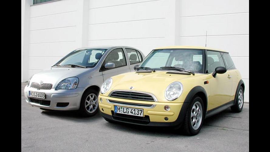 Mini Diesel und Toyota Yaris Diesel im Vergleichstest (2004)