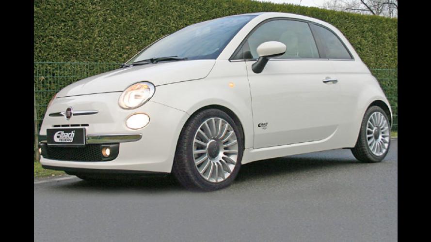 Fiat 500: Flotte Fahrwerkskomponenten von Eibach