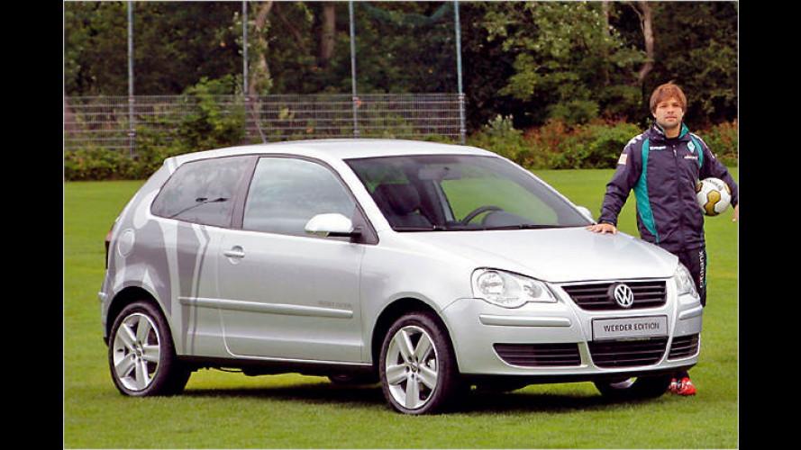 Neues Vereinsmitglied: Der VW Polo ,Werder Edition