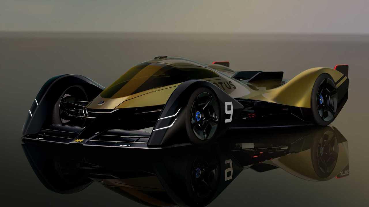 Lotus E-R9 électrique endurance pilote prototype étude avant vue du quart