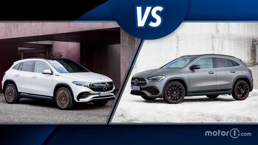 Mercedes EQA e Mercedes GLA, SUV elettrico e classico a confronto