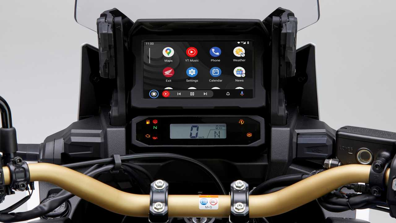 Honda Africa Twin Android Auto Display