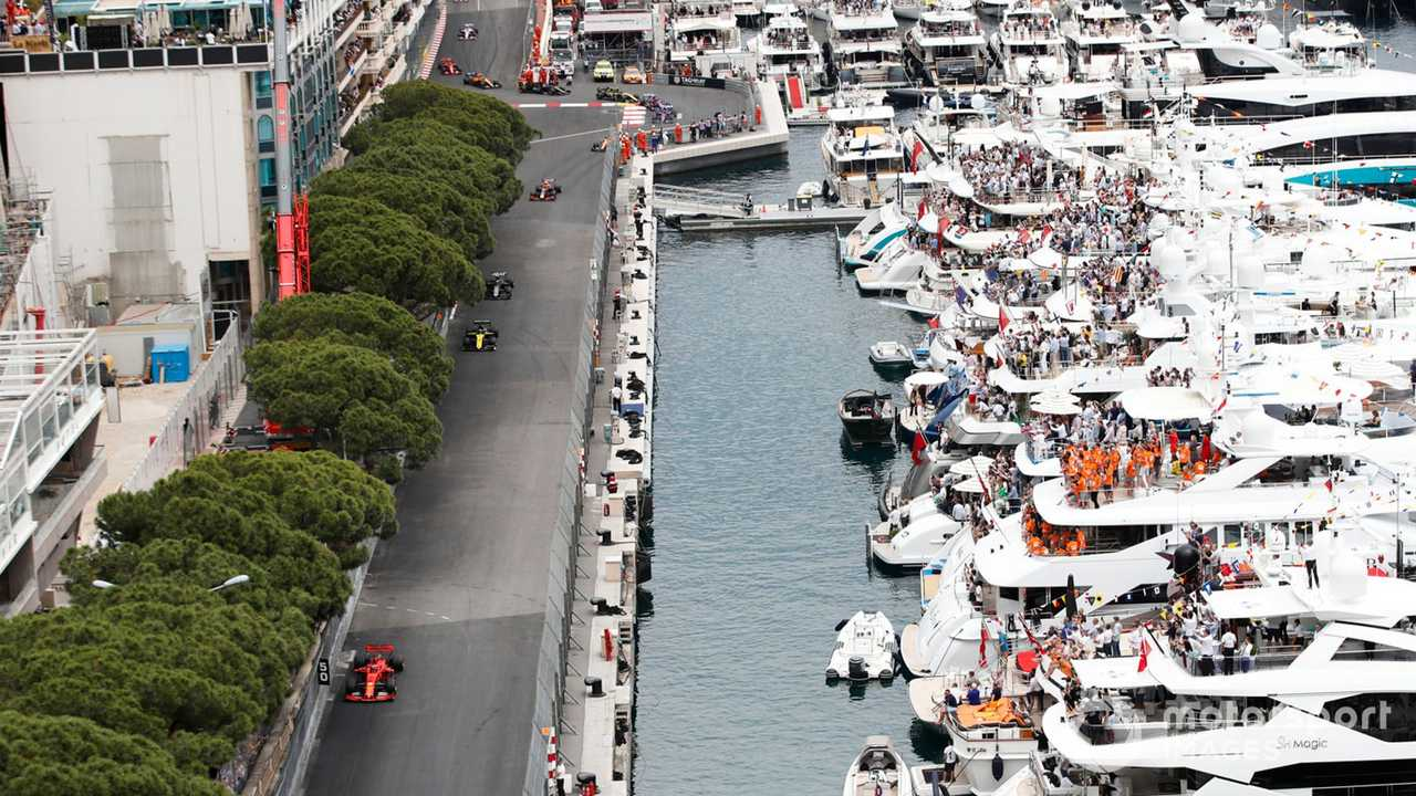 Monaco GP 2019 street track view from above