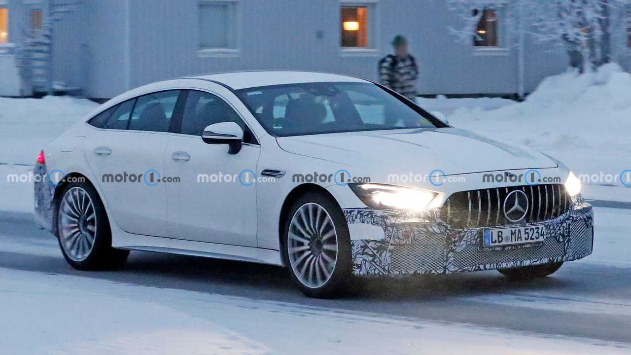 Mercedes-AMG GT73e Spy Shots Front Camouflage