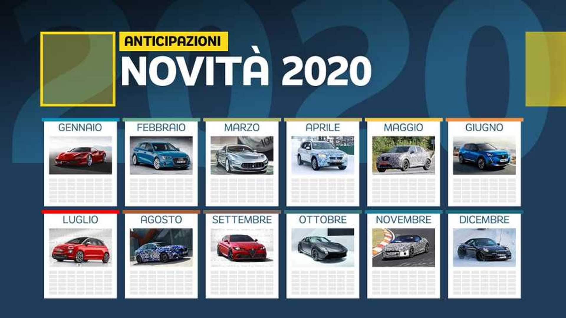 Calendario Luglio Agosto 2020.Novita Auto 2020 Il Calendario Di Tutti I Modelli In Arrivo