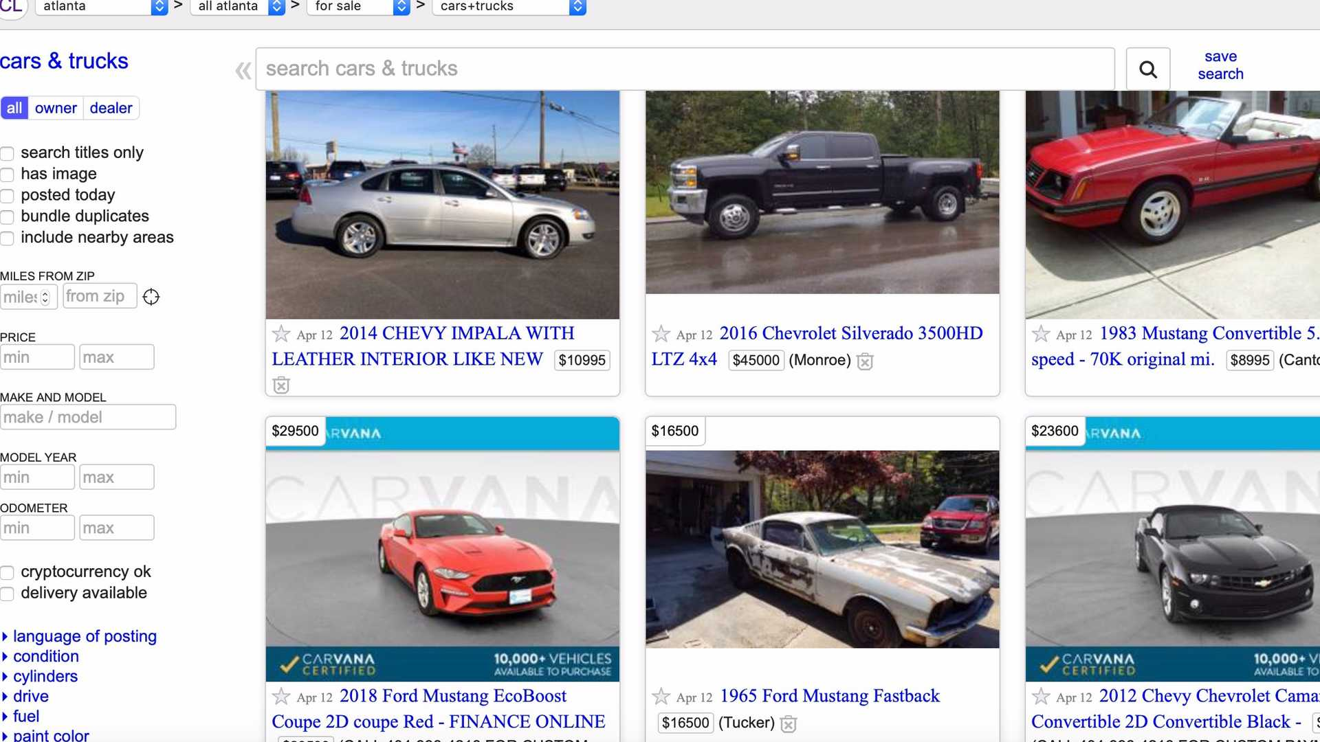 Craigslist Is No Longer Letting You List Your Car For Free Motorious