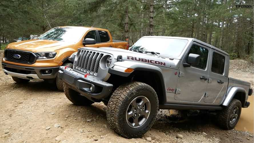 Watch The Jeep Gladiator And Ford Ranger Duel Off-Road