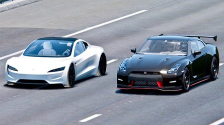 Watch Tesla Roadster Race Nissan GT-R Nismo: Simulated Video