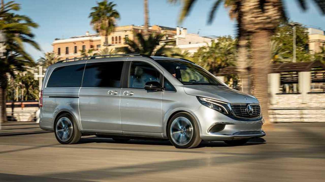 Mercedes-Benz Demonstrated Concept EQV In Barcelona