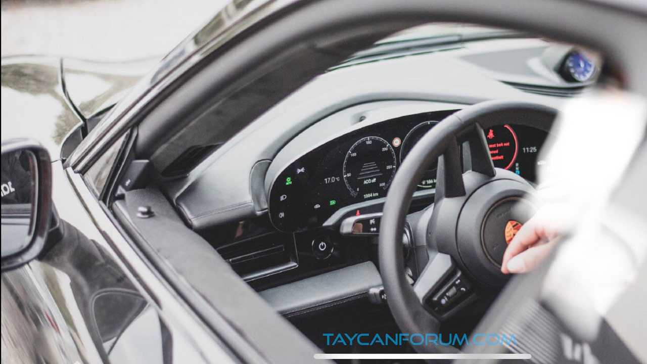 Porsche Taycan Interior Spied