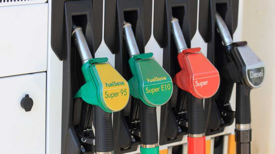 Pumps at petrol station