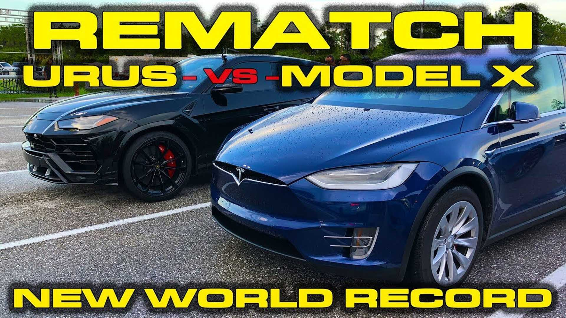 Tesla Model X Vs Lamborghini Urus Take Two,