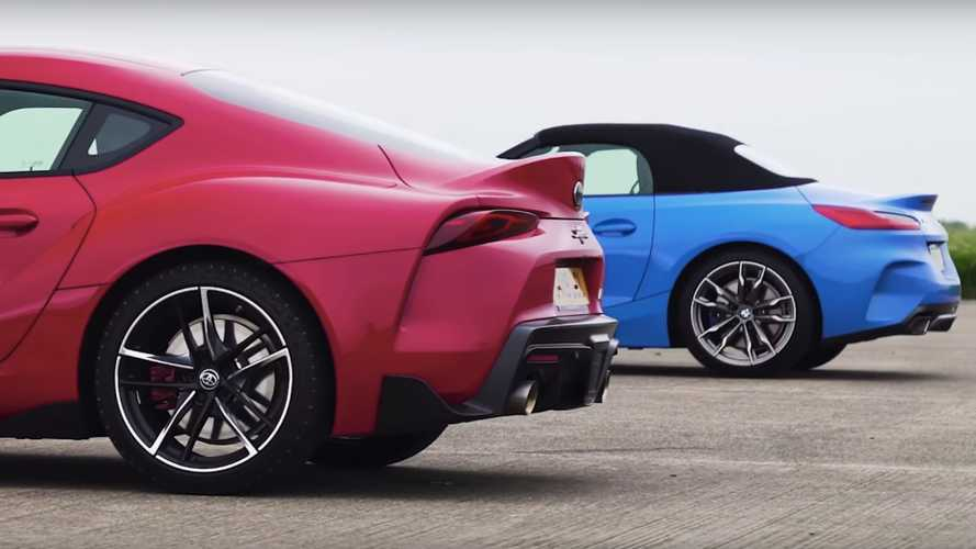 Toyota Supra vs BMW Z4 Drag Race