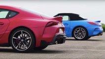 Toyota Supra contra BMW Z4, la carrera de aceleración que esperabas
